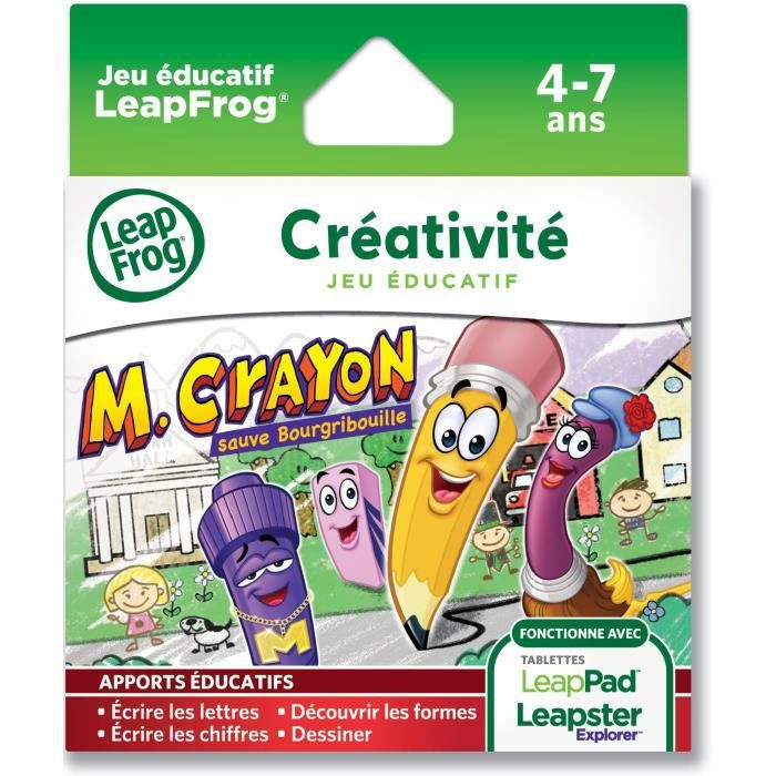 JEU CONSOLE EDUCATIVE LEAPFROG Explorer Jeu LeapPad Mr Crayon