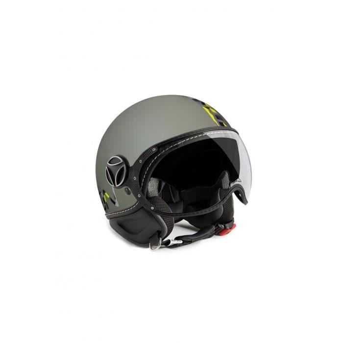 CASQUE MOTO SCOOTER MOMO DESIGN Casque Jet FGTR Evo Vert Logo Camoufla