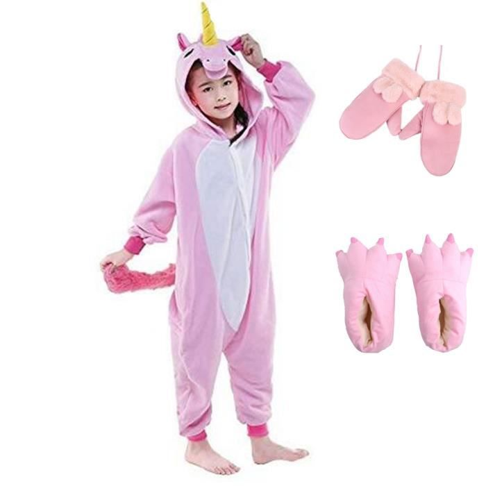 kigurumi pyjama enfant d guisement licorne combinaison grenouill re cosplay costume cadeau fille. Black Bedroom Furniture Sets. Home Design Ideas