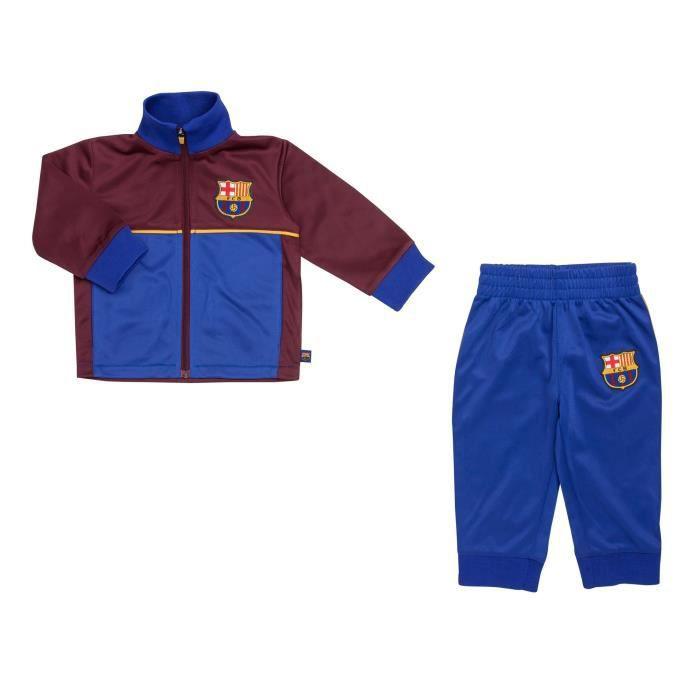 Ensemble de vêtements Survêtement Barça Fan Bleu-Rouge Bébé