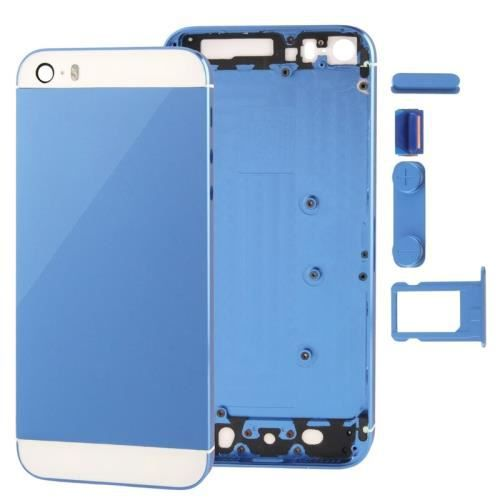 coque arriere chassis iphone 5s bleu complet