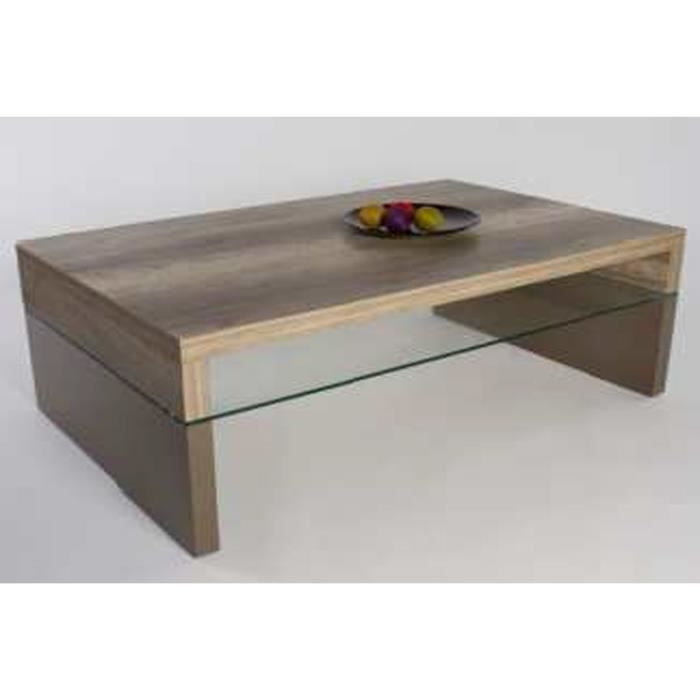 Table basse rose ch ne sauvage fonc taupe la achat - Table basse rose ...