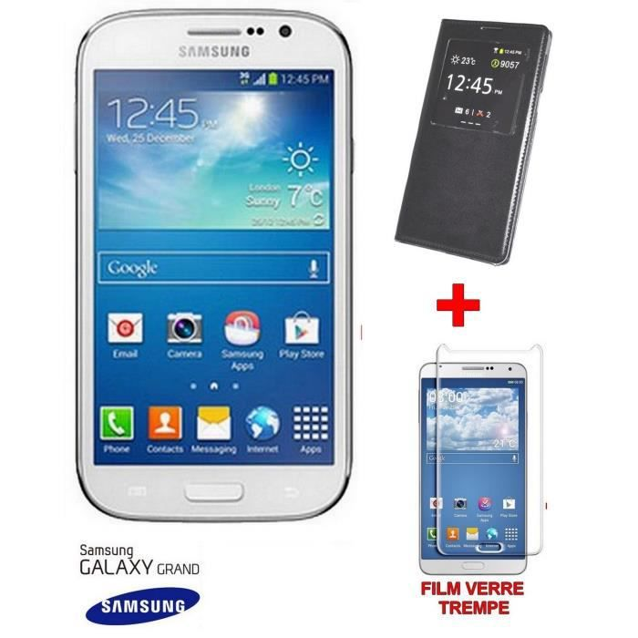 smartphone galaxy grand i9060 neuf debloque flip cover