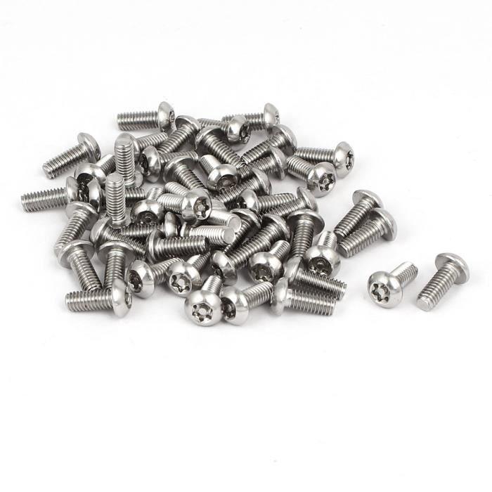 T15 bit 10 @ 4 x 38 mm en Acier Inoxydable TORX PIN Bouton Tête Vis à tôle