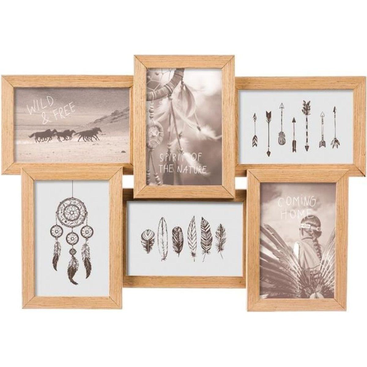 En bois Famille Cadre Photo détient 4 x 6 Paysage Photo