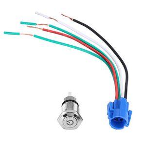 Boloromo FA0157 Bouton interrupteur /à bascule 8 broches c/ôt/é conducteur pour relais boxer Ducato OEM 7354217140 Noir