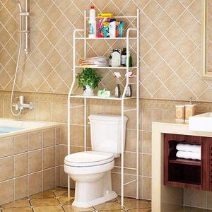 COLONNE - ARMOIRE WC OUI Meuble dessus WC en Inox Blanc Etagère de sall