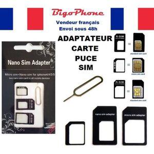 adaptateur carte nano sim Adaptateur de carte sim   Achat / Vente pas cher