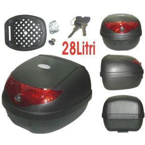 TOP CASE Moto Scooter Top Case 28 Lt Universel Fermeture Cl