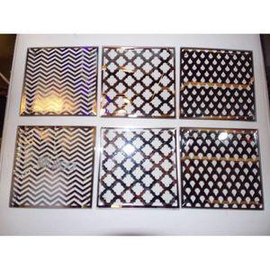 32 pièce Martello Set de couverts martelé effet acier inoxydable NEUF