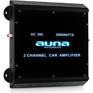 AMPLIFICATEUR AUTO auna Ampli de voiture 2 canaux 2000W max. (Plexigl