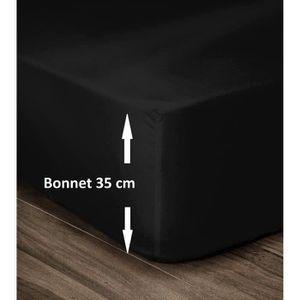 DRAP HOUSSE LOVELY HOME Drap Housse 100% Coton 160x200cm - Bon