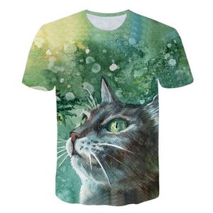 T-SHIRT Mens New Impression 3D T-shirts manches courtes T-