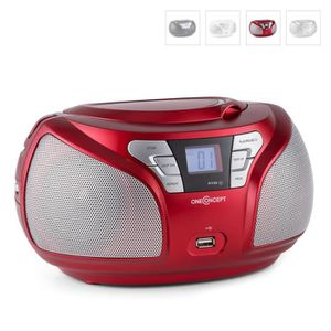 RADIO CD CASSETTE oneConcept Groovie - Boombox ghettoblaster portabl