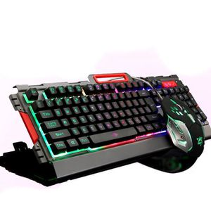 CLAVIER D'ORDINATEUR LED Multimédia Ergonomique Gaming Clavier + Filair