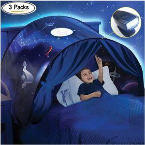 TENTE DE LIT 3pcs Dream Tents - Tente de lit enfant - Repliable