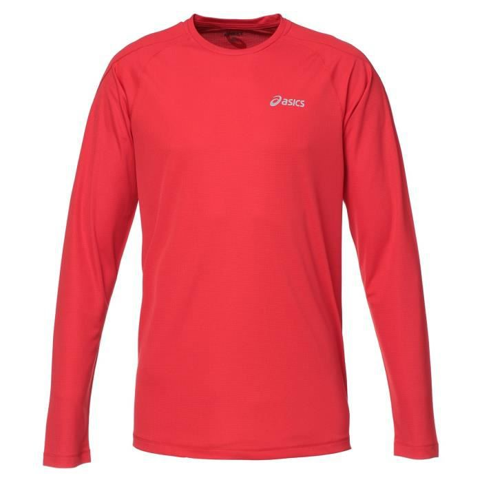 ASICS Crew Tee shirt manches longues Homme - Rouge