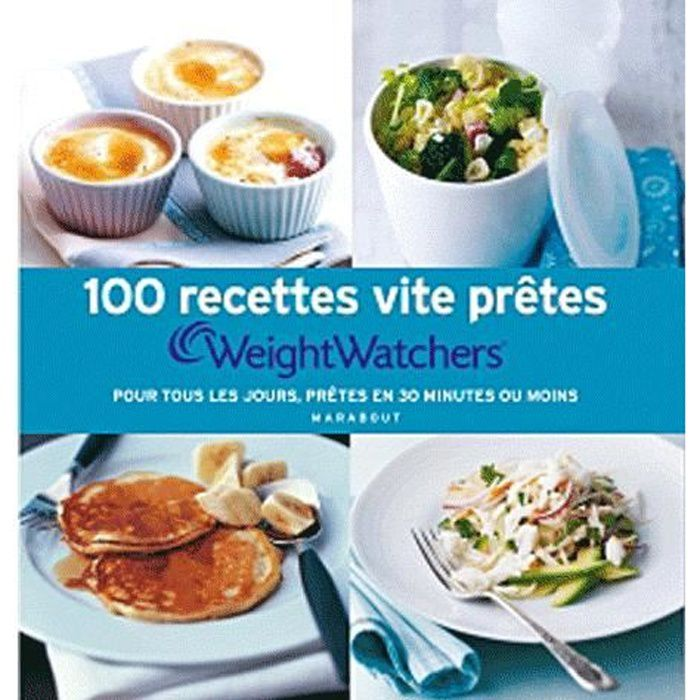 weight watchers 100 recettes vite pretes pour achat vente livre collectif marabout. Black Bedroom Furniture Sets. Home Design Ideas