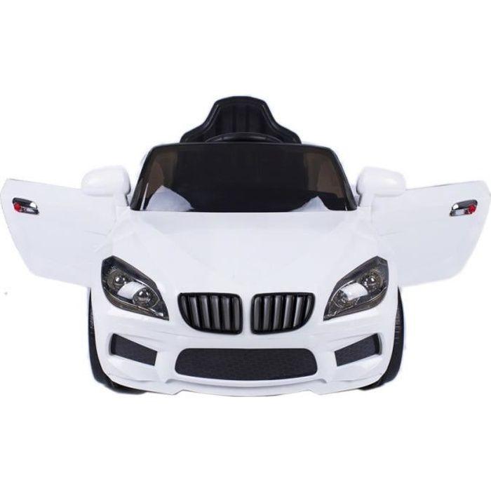 X5 Sedan 12v voiture électrique enfants avec télécommande Blanc - Voiture électrique pour enfant avec batterie 12v et télécommande