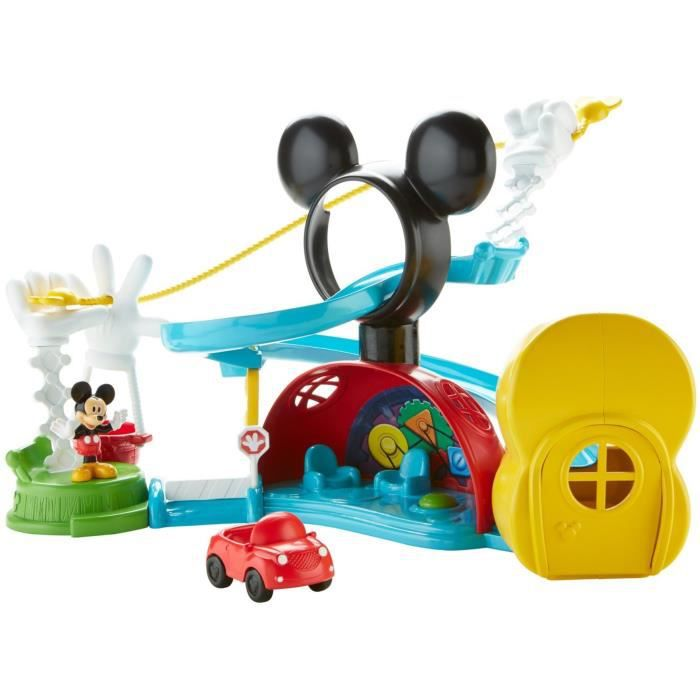 Poupon Disney Mickey Mouse Clubhouse, Zip, Slide And Zoom Clubhouse JXUVJ