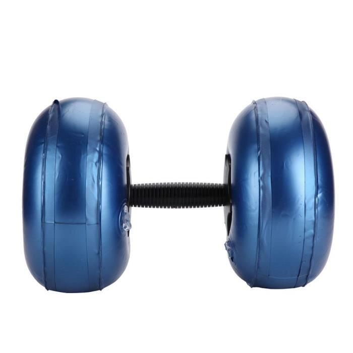 LANQI Matériel de remise en forme écologique pour haltères réglables en forme d'haltères remplis d'eau (16 ~ 20 kg, bleu)
