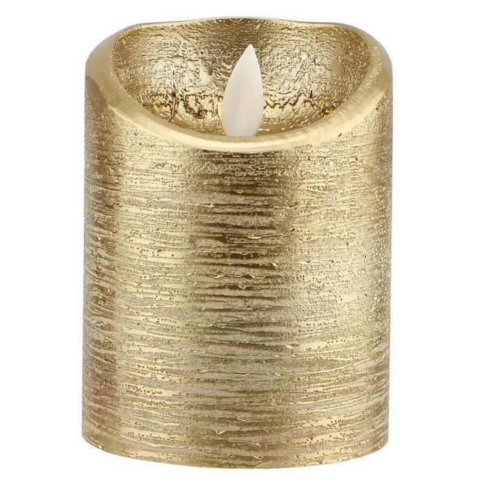 BOYOU Led Bougie sans flamme Batterie Bougie électrique à flamme oscillante en or Mariages (S)