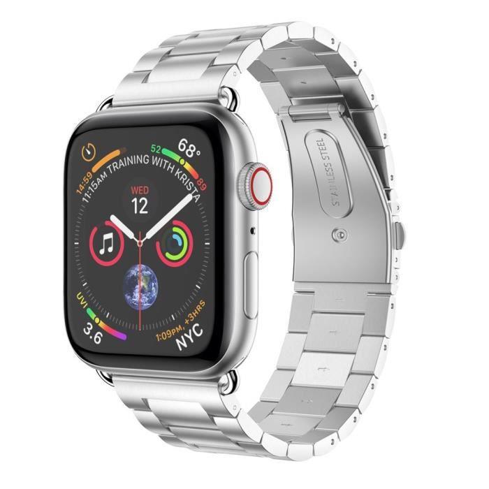 MONTRE OUTDOOR Bracelet de remplacement en acier inoxydable pour bracelet de montre Apple Watch Series 4 44 mm bg985 SDF985