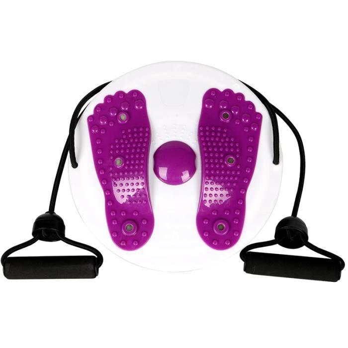 VICICA 3D stéréo Plaque de Vibration machine de torsion de taille de massage,appareil minceur à Twist de fitness Violet