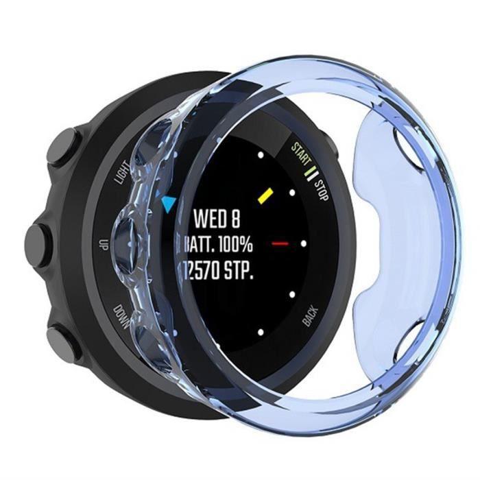 bracelet de montre vendu seul Coque de protection TPU Crystal Clear ultra-fine transparente pour Gar min Forerunner 45