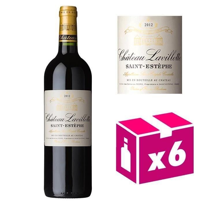 6 bouteilles Château Lavillotte - St Estèphe 2012