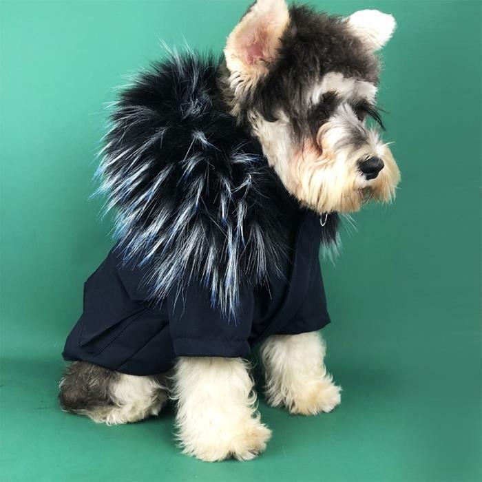 Manteau Blouson,Vêtements d'hiver pour chiens de compagnie Pour petits chiens, vêtements pour animaux, - Type Only Navy Jacket-S