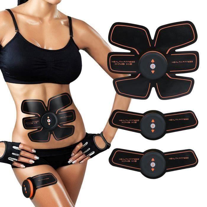 Ceinture Abdominale, Ailida Electrostimulateur Musculation Abdominaux Bras Cuisses Appareil Fitness pour Hommes Femmes A62027