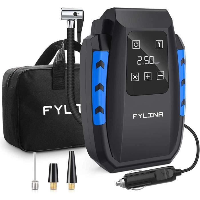 FYLINA Compresseur d'air Portable voiture Gonfleur numérique- 12V 150W