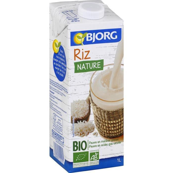 Boisson bio à base de riz 1 l Bjorg