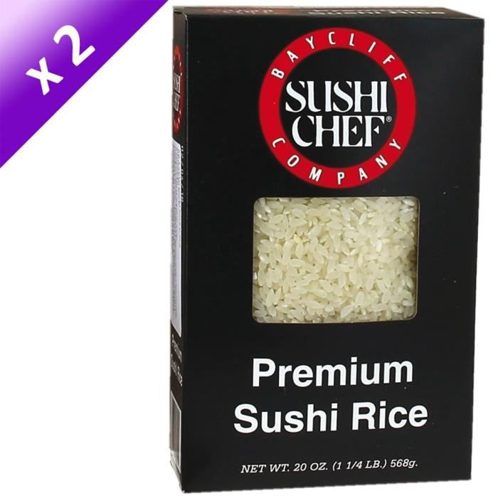 [LOT DE 2] SUSHI CHEF Riz Court - 568 g