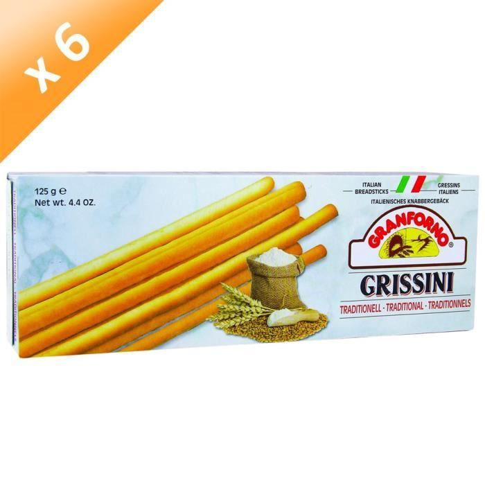 [LOT DE 6] GRANFORNO Grissini Nature - 125 g