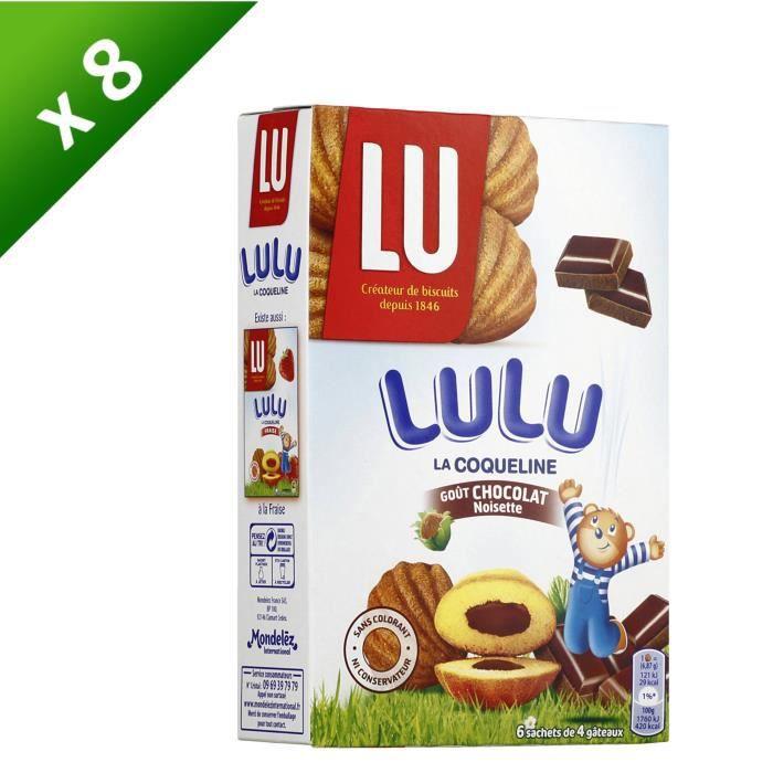 [LOT DE 8] LU La coqueline -Lulu- au chocolat 165g