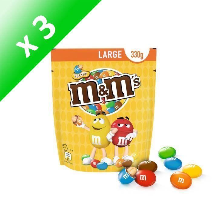 [LOT DE 3] MARS WRIGLEY CONFECTIONERY FRANCE Peanut M&M's - 330 g