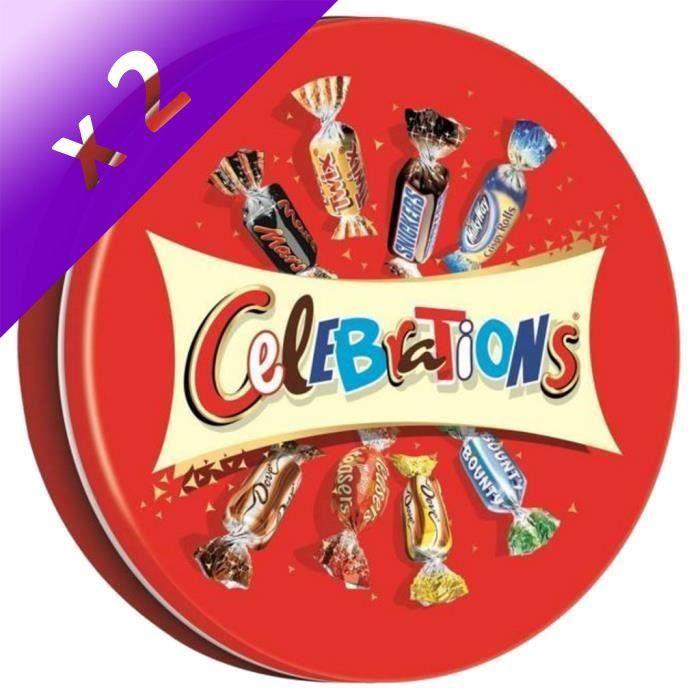 [LOT DE 2] MARS Bonbons assortis Célébrations en boîte métal - 435 g