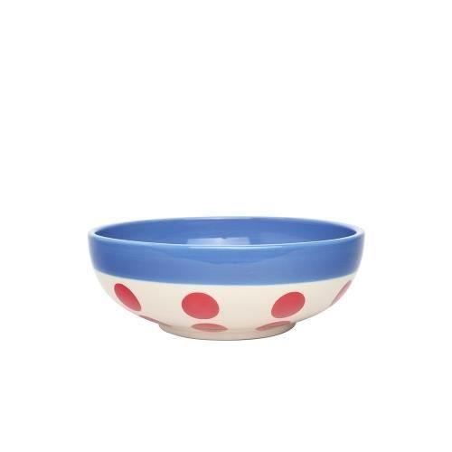 Bol céréales reverso 16,5 cm rouge et bleu - Déjeuner Sur L'herbe Bleu