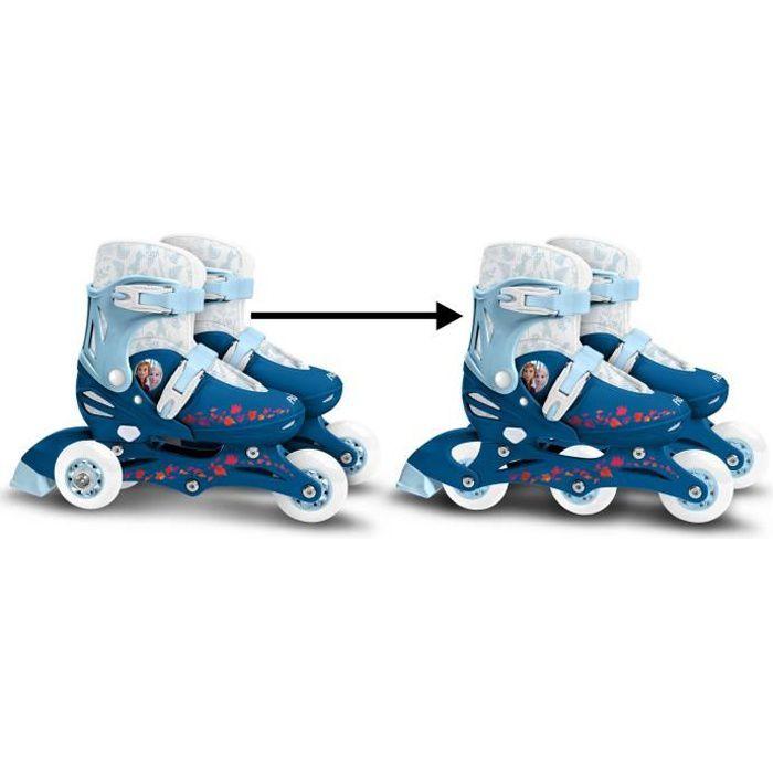 LA REINE DES NEIGES II Patins en ligne 2 en 1 - 3 roues - Taille 27-30