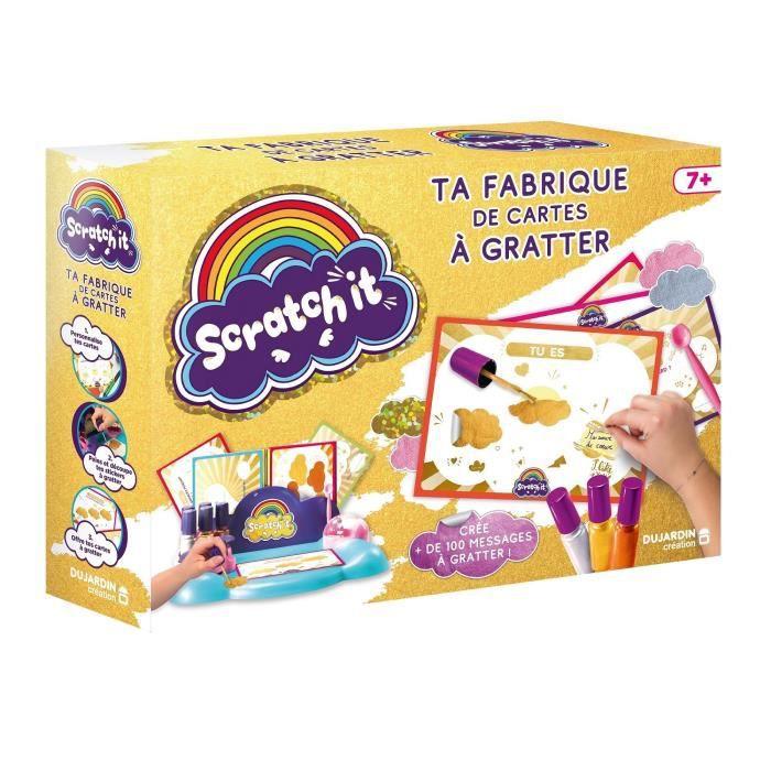 DUJARDIN Loisirs créatifs - Fabrique de carte à gratter - Scratch it factory