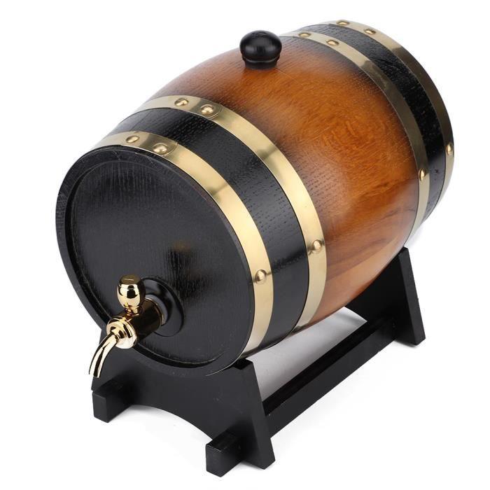 DUOKON 3L grande capacité rétro couleur chêne bois rouge baril de vin seau Keg conteneur de stockage pour la maison