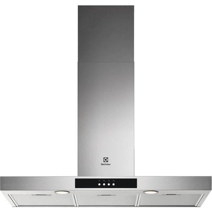ELECTROLUX LFT429X - Hotte - évacuation ou recyclage - 600m3/h - 3 vitesses - L90cm - filtres inclus - inox - 7332543674015