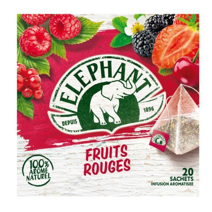 Infusion fruits rouges x 20 Elephant