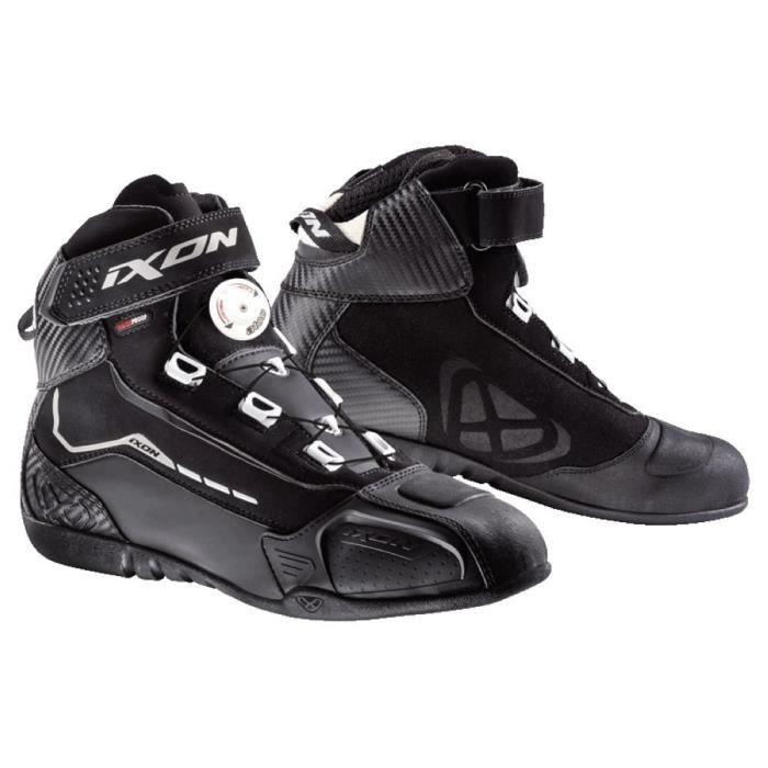 IXON Chaussures Moto Soldier Evo - Homme - Noir et blanc