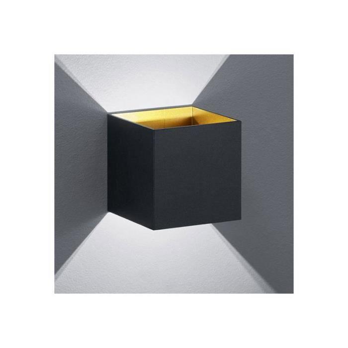 Petite Applique LED Design Noire Up and Down Tramontane