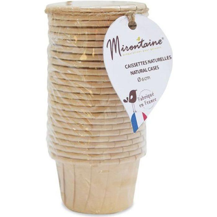 Caissettes cupcake et muffin en papier 25 pièces - Mirontaine Beige