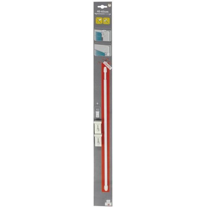 Kit tringle Clip'VIT 40-65 cm + supports
