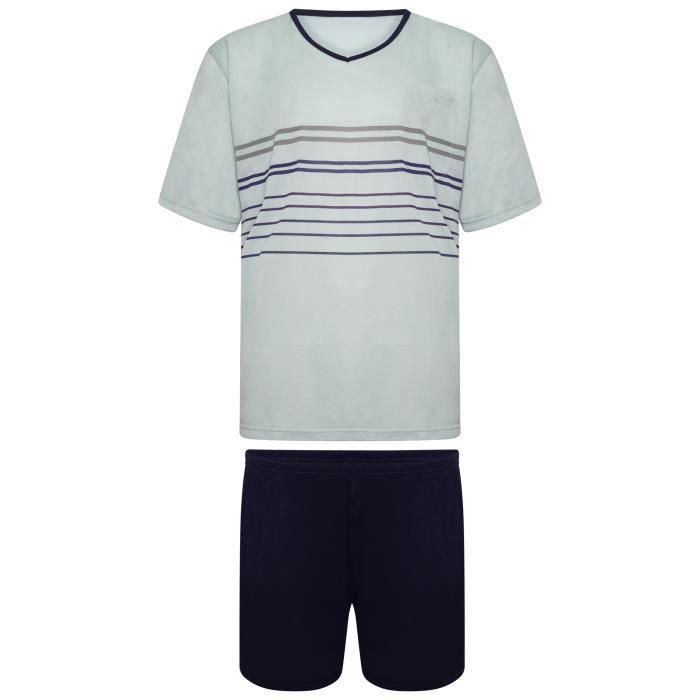 i-Smalls Ensemble de Pyjama Court en Coton doux pour Hommes